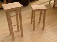 Bar ,science lab school stools in solid beech