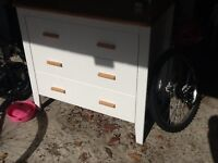 Isobel by Tom Foley children's chest of drawers with matching shelf