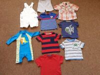 small bundle of 9-12 months summer clothes