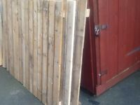 40 ft solid wood fence with posts x 4ft high
