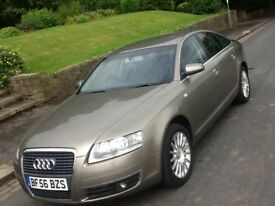 2007 AUDI A6 2.0 TDI SE SALOON WITH FULL LEATHER AND SAT NAV!!!!
