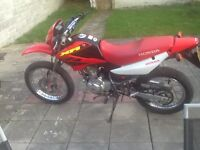 Honda Xr 125 2004 11 mts mot good condition may pt ex