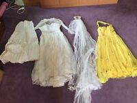 Antique wedding dress, veil, underskirt and bridesmaid's dress