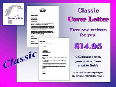 Professional Resume Writing Service   Classic Cover Letter