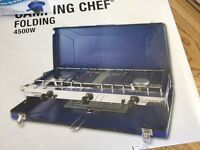 Brand new double camping stove and grill