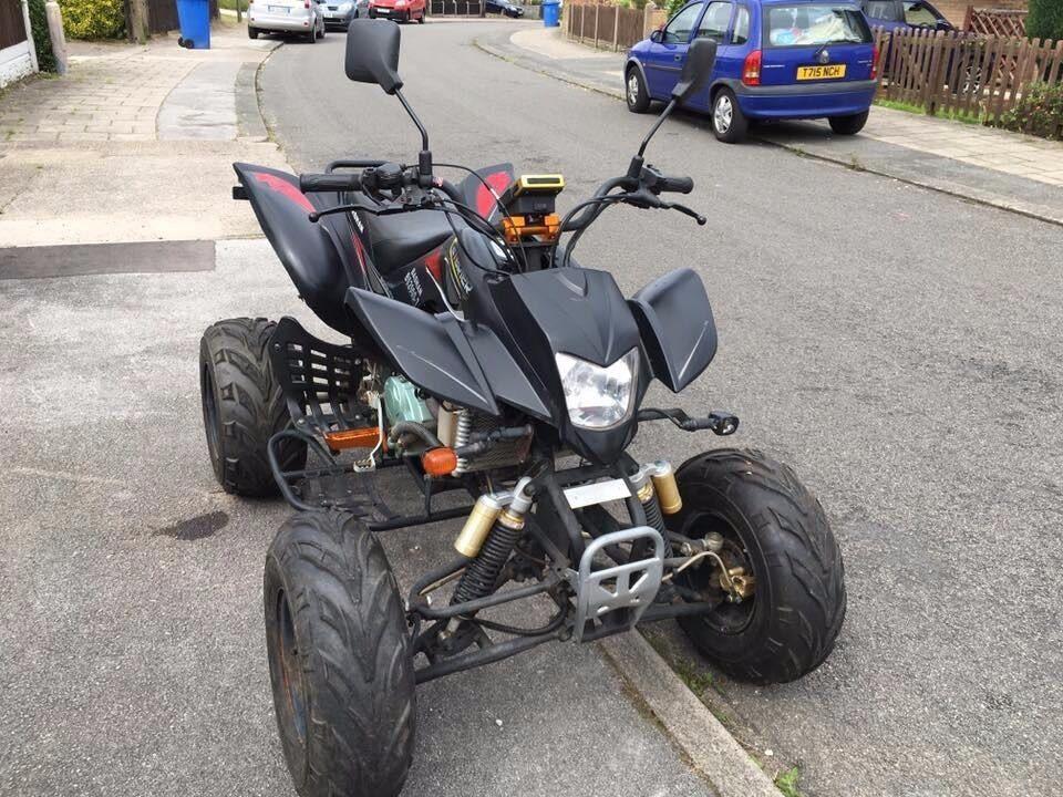 sold sorry atv bashan bs200s 7 quad bike 200cc road leagle. Black Bedroom Furniture Sets. Home Design Ideas
