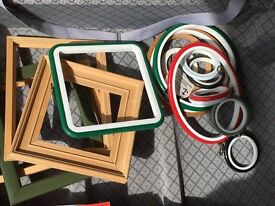 Various frames suitable for art craft and cross stitch projects