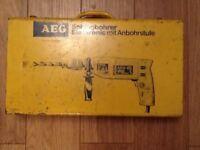 AEG Hammer drill 240 v boxed