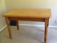 Farmhouse planked pine table
