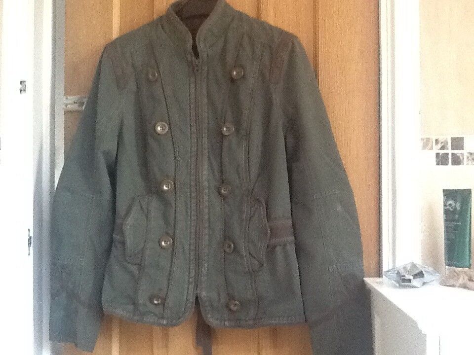 Olive green jacket size 12