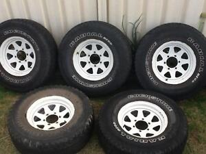 Five 15' X 7' Sunraysia wheels with 31 10.5 15 tyres. 6 X 139.7 Prestons Liverpool Area Preview