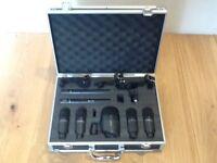 7pc 'Red5 Audio' Drum Microphone set w/rim mounts in Flight case