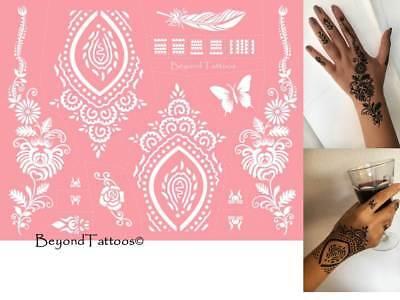 Mikronetz Tattoo Schablonen für Körperbemalung einfach + wiederverwendbar