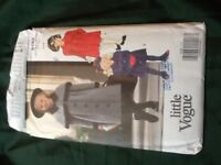 A unlike collection of vintage children clothes patterns