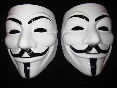 (2pcs) V for VENDETTA Halloween anonymous MASK Prop Costume GUY Fawkes](Halloween Costumes For 2 Guys)