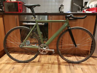 Fixed Gear Bike, Carbon Parts fast ratio clipless pedals