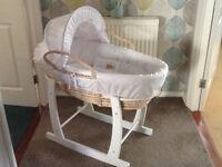 Lovely baby's rocking wicker basket