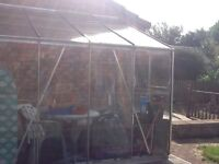 Glass three sided lean to 1900x2500 , only £30