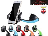 360° Rotating Car Vehicle Windshield Mount Dashboard Stand Mobile Phone Holder Black Green Blue Red