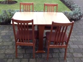Legate dining table & 4 chairs