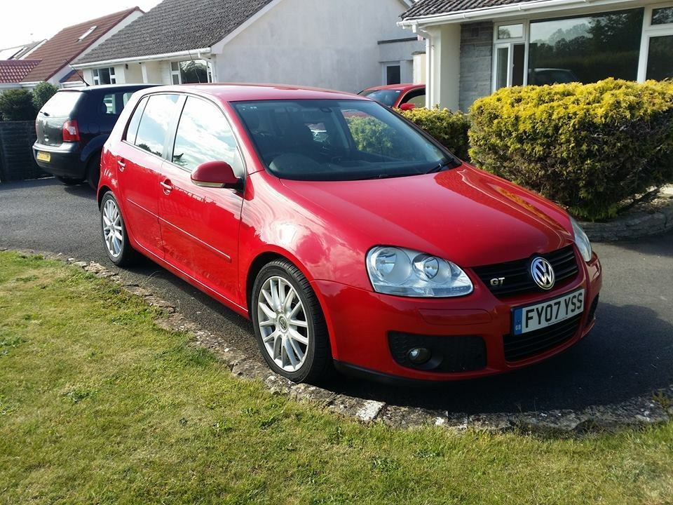 vw golf gt tdi 170 mk5 2007 07 red 5 door sat nav parrot bluetooth now reduced for fast sale. Black Bedroom Furniture Sets. Home Design Ideas