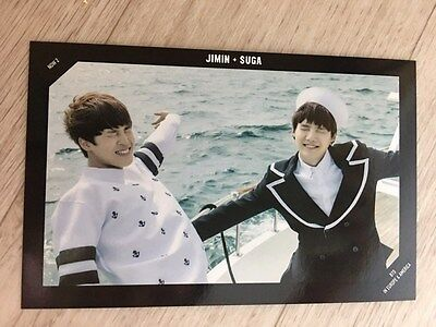 K-Pop star : BTS Now 2 Special Photo Card IN EUROPE & AMERICA - Jimin & Suga