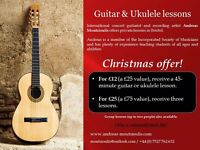 Guitar and Ukulele lessons for £12!!