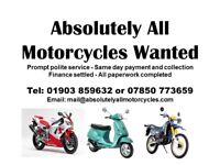 Absolutely All Motorcycles Wanted - Honda Kawasaki Suzuki Yamaha Piaggio Scooter Motorbike