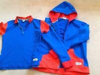 Girl Guide uniform hoodie and polo shirt