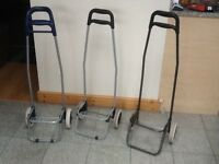 Shopping trolley cart/wheels only -no baskets/bags-ideal for replacements,festivals,/camping/boxes