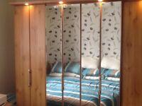 Wardrobe unit, double wardrobe, single wardrobe, 3 shelf unit
