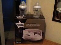 Tommee Tippee baby bottle microwave steriliser
