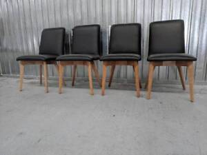 SET OF FOUR Leather Dining Chairs - FACTORY SECOND Epping Whittlesea Area Preview