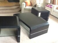 Coffee table with 2 x lamp tables