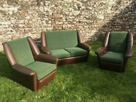 1950s/60's 2 seater and armchairs