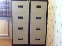 Two 4 drawer Filing Cabinets