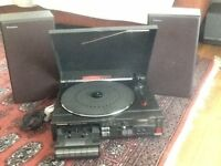 automatic turn table stereo Panasonic, radio cassette recorder