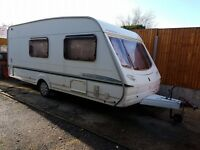 Abbey Aventura 320 4 berth caravan END WASHROOM VGC, Awning, BARGAIN !