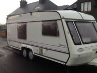 4/5 BERTH MARDON TWINAXLE CARAVAN WITH AWNING