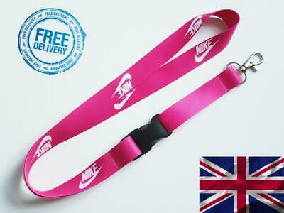 Nike Lanyard Neck Strap for Keys ID Card Holder - Pink width 20mm, length 52cm