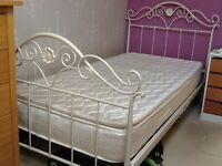 Laura Ashley metal frame single bed and mattress
