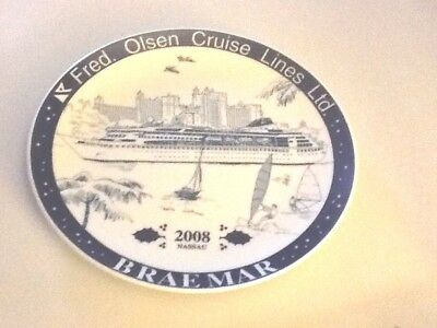Fred Olsen Cruises Norway BRAEMAR Nassau Bahamas Christmas 2008 Collector plate