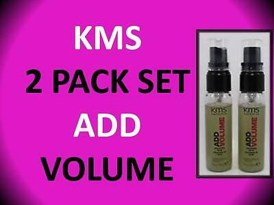 2 PACK! KMS CALIFORNIA ADD VOLUME VOLUMIZING HAIR SPRAY 1 OZ BRUSHABLE HOLD (Add Volume Volumizing Spray)