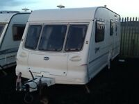 1999 Bailey pageant champagne 4 berth end changing room with awning