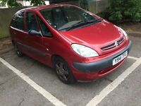 Citroen XSARA PICASSO 1.6 PETROL MOT 30/08/2017 READY TO DRIVE CHEAP O FUEL AND INSURANCE
