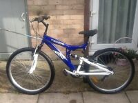 Double suspension tiger rock bike in good working order can deliver for petrol