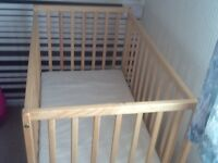 Space saver cot useful for grandparents for sleepovers