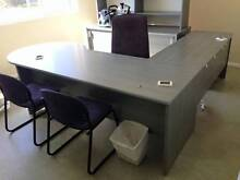 Office Conference Desk and Sliding Door Credenza with Shelves Muswellbrook Muswellbrook Area Preview