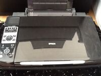 EPSON DX8540 PRINTER, COPIER,SCANNER & 4 REFILLABLE INK CARTRIDGES.USED.