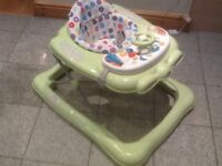 Baby walker with musical console -in excellent condition,lightly used-£20